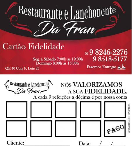 Cartão de Visitas Fran