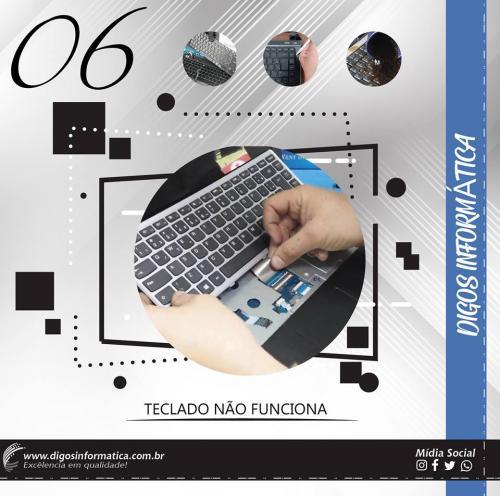 Troca de teclado
